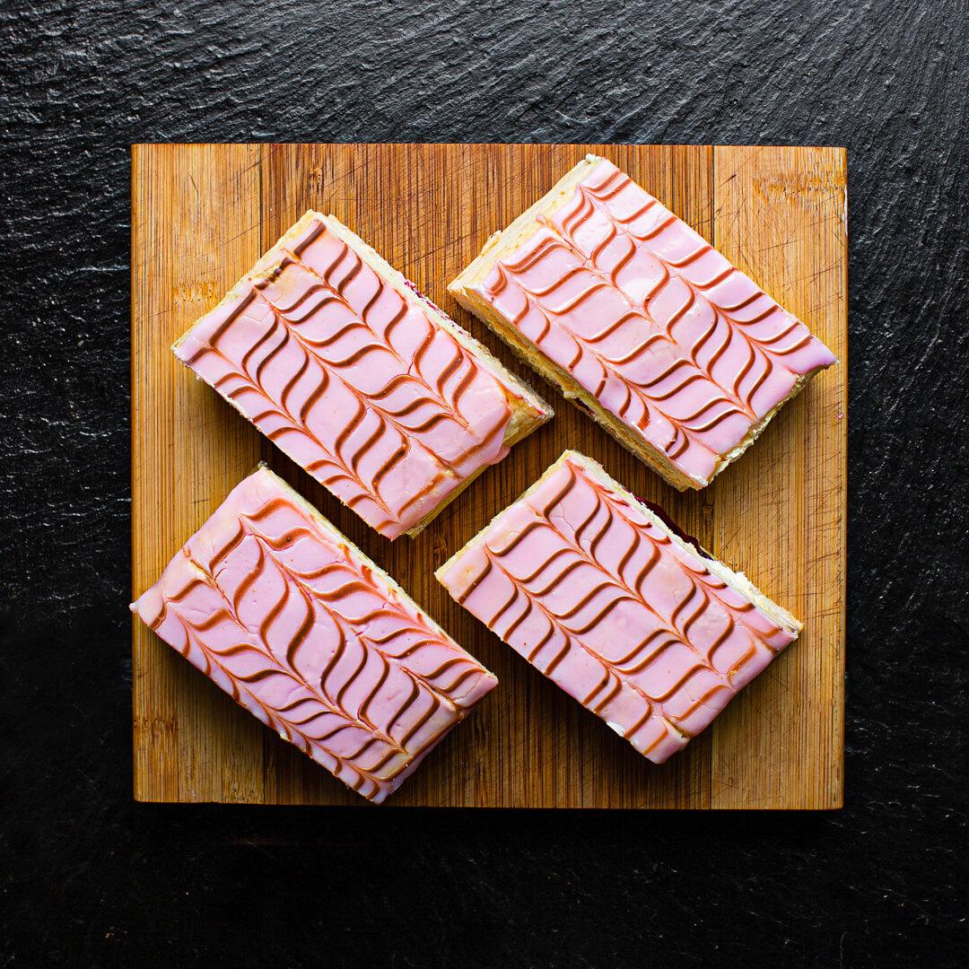 Cherry Cream Slice (Box Of 6)