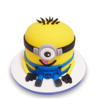 Cake In The Shape Of A Minion Character From Movie 'Despicable Me'